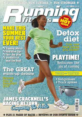 Running Fitness issue Eat Yourself Faster July 2011