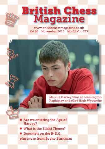 British Chess Magazine issue BCM November 2013