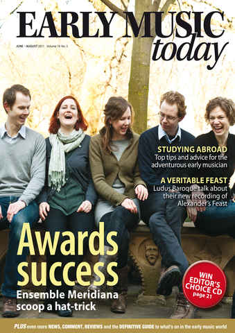 Early Music Today issue June -July - Aug 2011