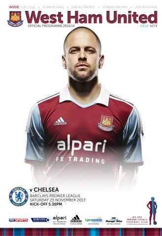 West Ham Utd Official Programmes issue West Ham United v Chelsea