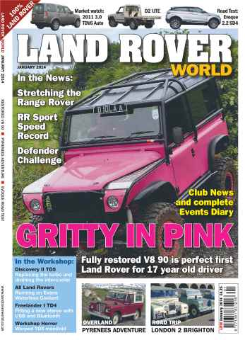 Landrover World issue Gritty in Pink