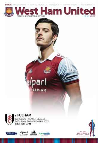 West Ham Utd Official Programmes issue West Ham United v Fulham