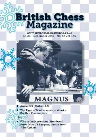 British Chess Magazine issue BCM December 2013