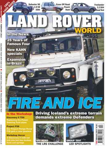 Landrover World issue Driving Iceland's extreme terrain demands extreme Defenders