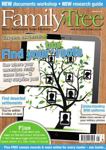 Family Tree issue Family Tree January 2014