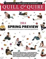 Quill & Quire issue JANUARY  FEBRUARY 2014