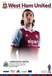 West Ham Utd Official Programmes issue WEST HAM UNITED V NUFC