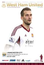 West Ham Utd Official Programmes issue West Ham v Manchester City