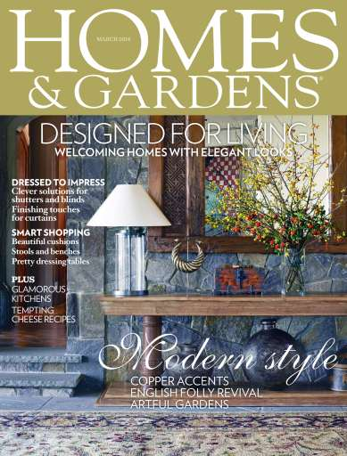 Homes Gardens Magazine March 2014 Subscriptions