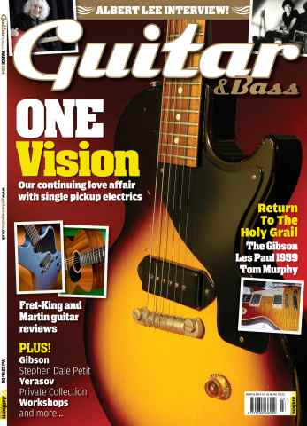 Guitar & Bass Magazine issue Guitar & Bass Magazine March 2014