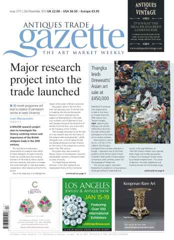 Antiques Trade Gazette issue ATG Issue 2117