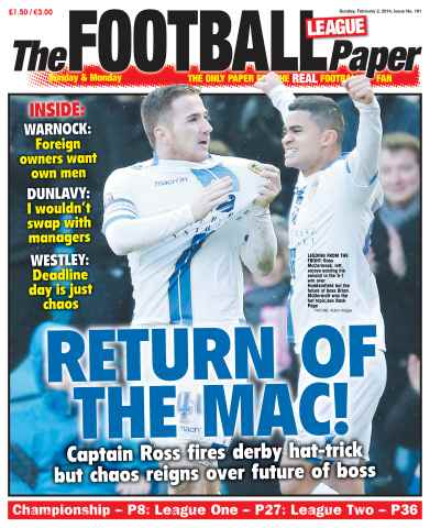 The Football League Paper issue 2nd February 2014