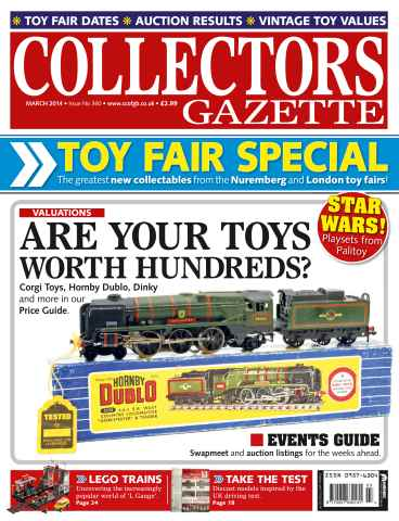 Collectors Gazette issue March 2014 - Toy Fair special