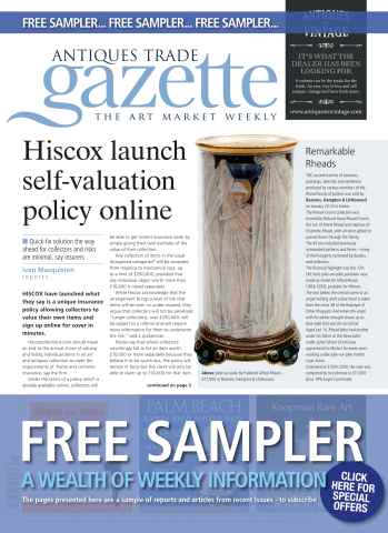 Antiques Trade Gazette issue FREE SAMPLER