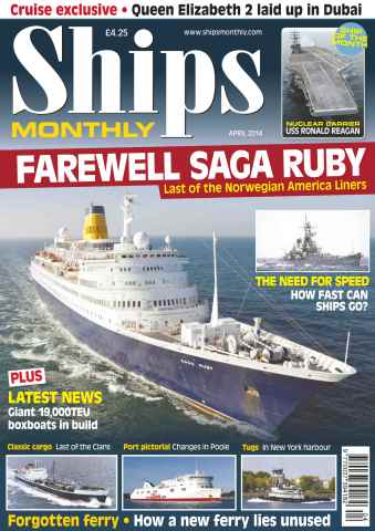 Ships Monthly issue No.592 Farewell Saga Ruby