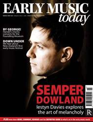Early Music Today issue March - May 2014