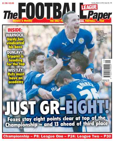 The Football League Paper issue 3rd March 2014