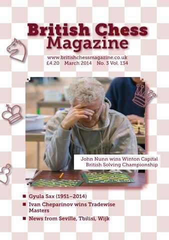 British Chess Magazine issue BCM March 2014