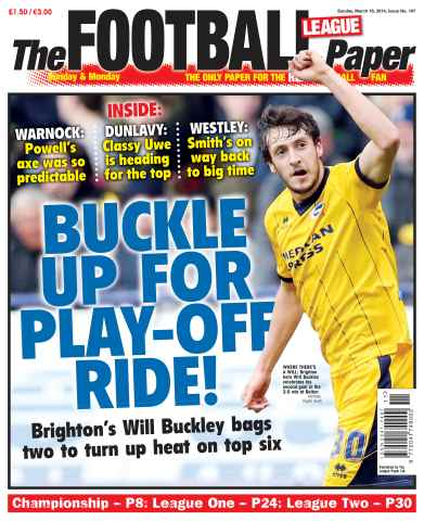 The Football League Paper issue 16th March 2014