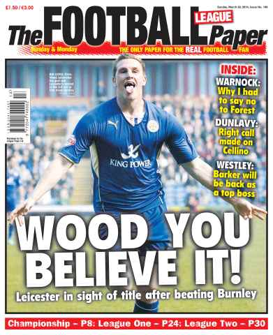 The Football League Paper issue 30th March 2014