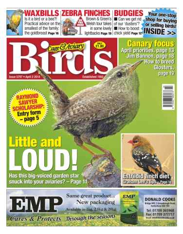 Cage & Aviary Birds issue No.5797 Little & Loud