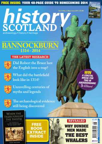 History Scotland issue BANNOCKBURN SPECIAL 1314 - 2014