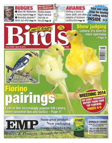 Cage & Aviary Birds issue No.5799 Fiorino Pairings