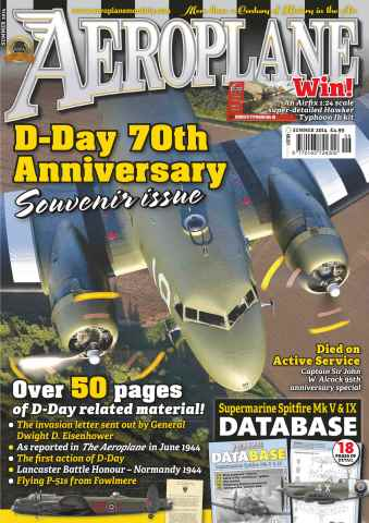 Aeroplane issue No.494 D-Day 70th Anniversary Souvenir issue