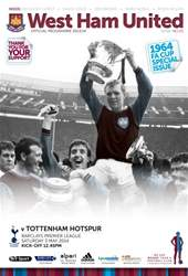 West Ham Utd Official Programmes issue West Ham United v Tottenham Hotspur