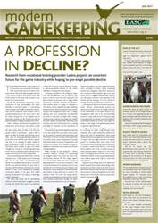 Modern Gamekeeping issue JULY 2011