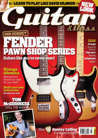 Guitar & Bass Magazine issue Aug 2011 Fender Pawn Shop Series