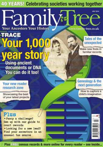 Family Tree issue Family Tree July 2014