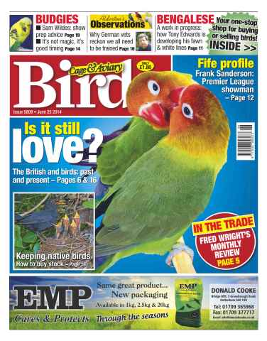 Cage & Aviary Birds issue No.5809 Is it still love?
