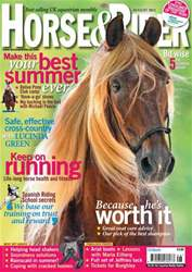 Horse&Rider Magazine - UK equestrian magazine for Horse and Rider issue August 2011