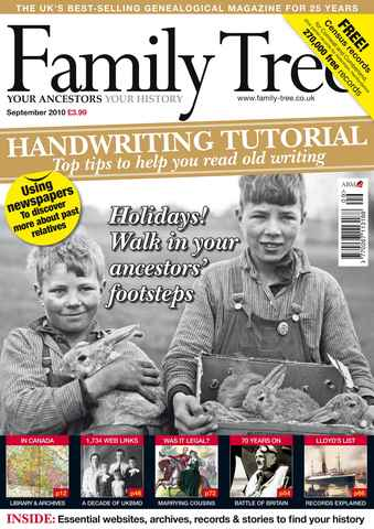 Family Tree issue September 2010