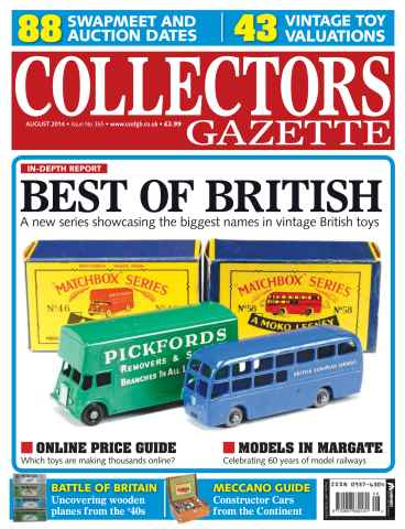 Collectors Gazette issue August 2014 Issue