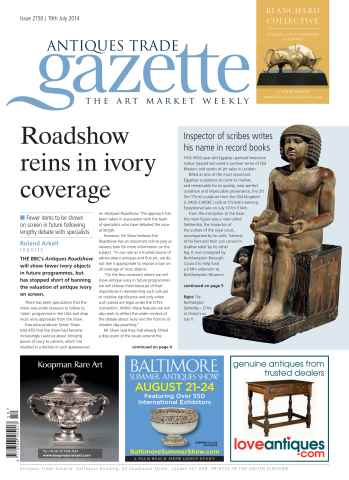 Antiques Trade Gazette issue ATG Issue 2150