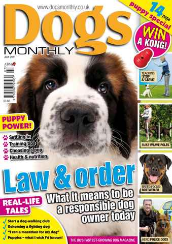 Dogs Monthly issue July 2011
