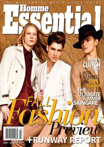 Essential Homme issue July-August 2011