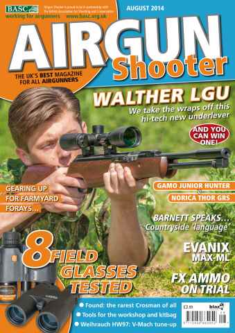 Airgun Shooter issue August 2014