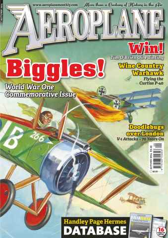 Aeroplane issue No.497 Biggles! WWI Commemorative Issue
