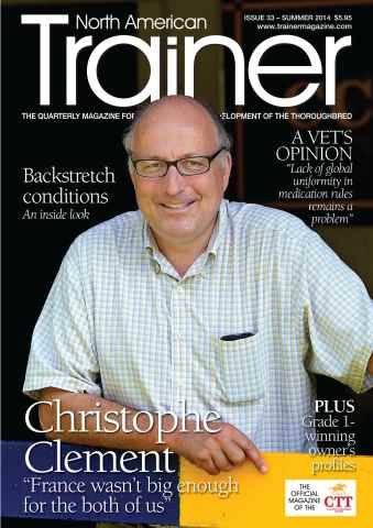 North American Trainer Magazine - horse racing issue Summer 2014 – Issue 33