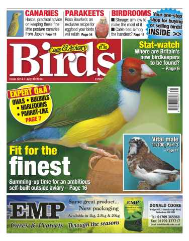 Cage & Aviary Birds issue No.5814 Fit for the Finest