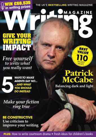 Writing Magazine issue September 2014