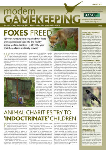 Modern Gamekeeping issue AUGUST 2011