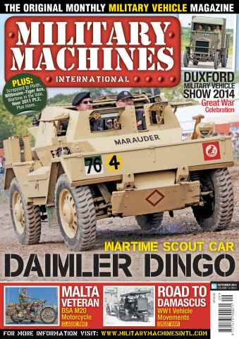 Military Machines International issue September 2014