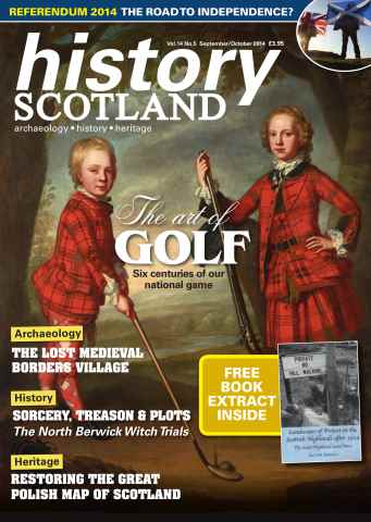History Scotland issue SepOct - the art of golf independence witch trials and more