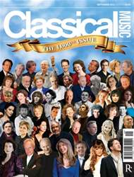 Classical Music issue September 2014