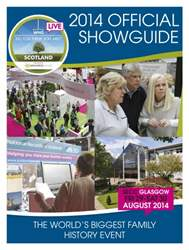 Scottish Memories issue Who Do You Think You Are? 2014  Official Showguide