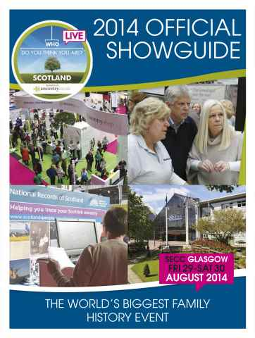 Writing Magazine issue Who Do You Think You Are? 2014  Official Showguide